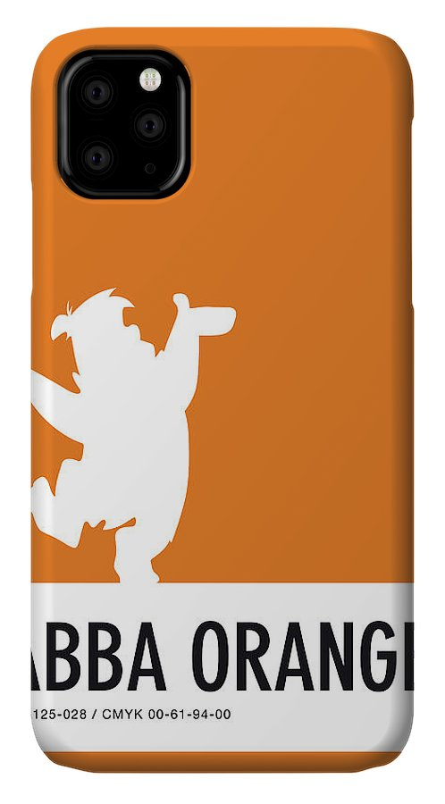 Looney IPhone Case featuring the digital art No04 My Minimal Color Code poster Fred Flintstone by Chungkong Art