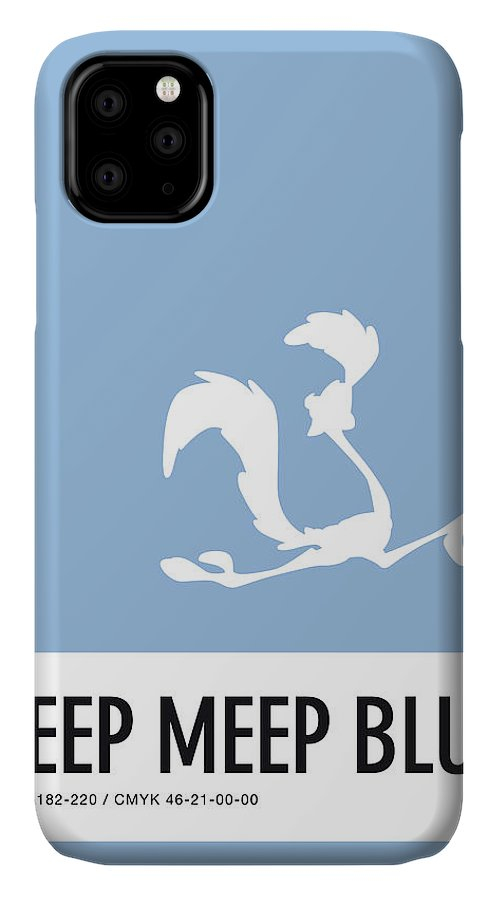 Looney IPhone Case featuring the digital art No05 My Minimal Color Code poster Road Runner by Chungkong Art
