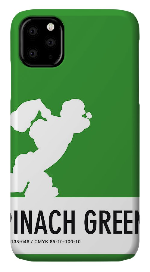 Looney IPhone Case featuring the digital art No07 My Minimal Color Code poster Popeye by Chungkong Art