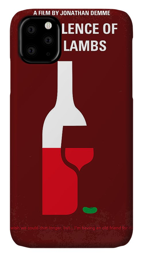 Silence IPhone 11 Case featuring the digital art No078 My Silence Of The Lamb Minimal Movie Poster by Chungkong Art