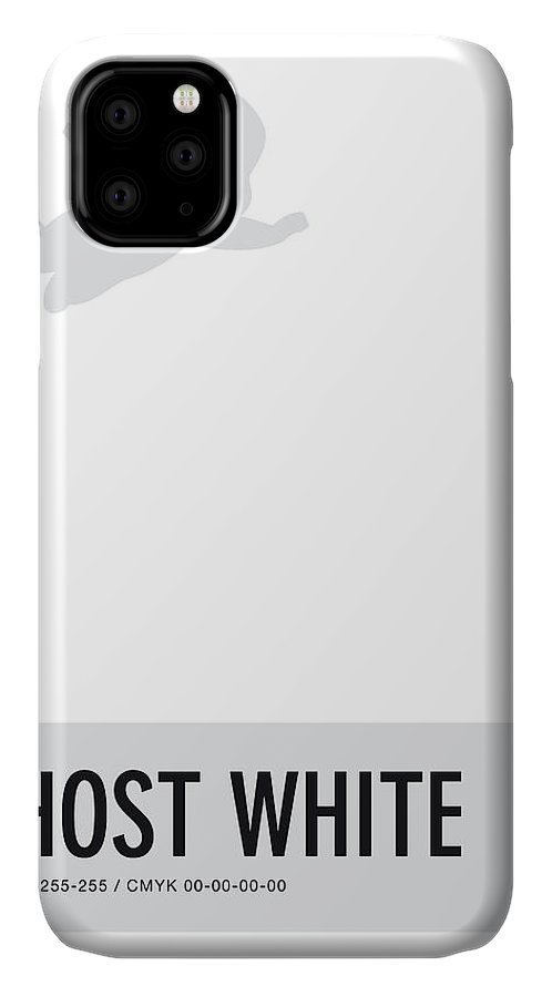 Looney IPhone Case featuring the digital art No09 My Minimal Color Code poster Casper by Chungkong Art