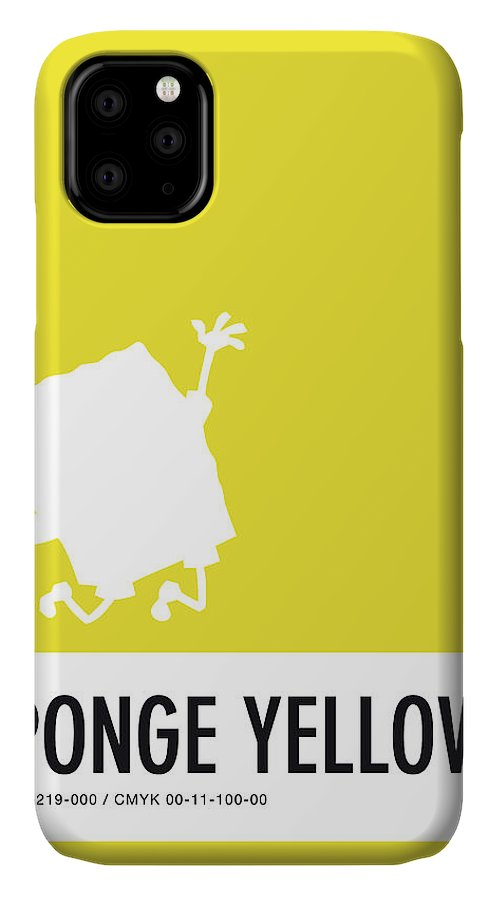Looney IPhone Case featuring the digital art No10 My Minimal Color Code poster Spongebob by Chungkong Art