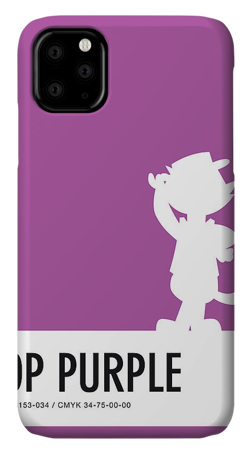 Looney IPhone Case featuring the digital art No11 My Minimal Color Code poster Top Cat by Chungkong Art
