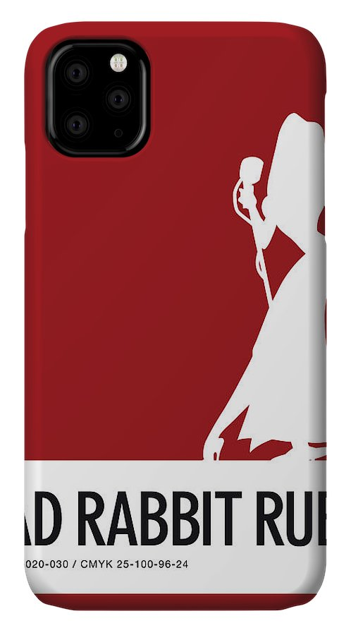 Looney IPhone Case featuring the digital art No14 My Minimal Color Code poster Jessica Rabbit by Chungkong Art