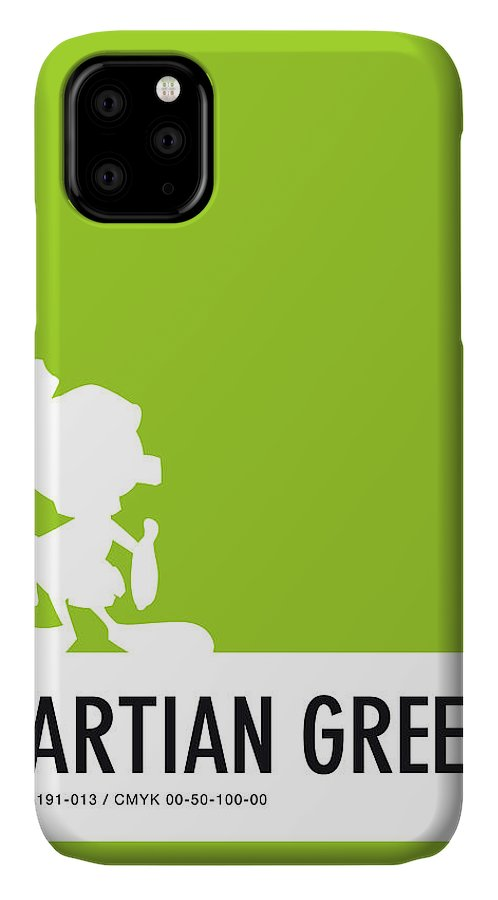 Looney IPhone Case featuring the digital art No15 My Minimal Color Code poster Marvin by Chungkong Art