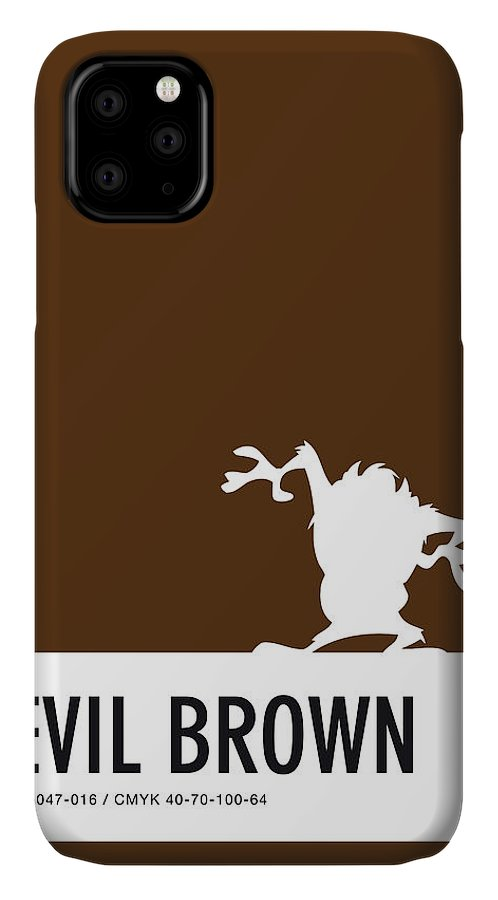Looney IPhone Case featuring the digital art No16 My Minimal Color Code poster tasmanian devil by Chungkong Art