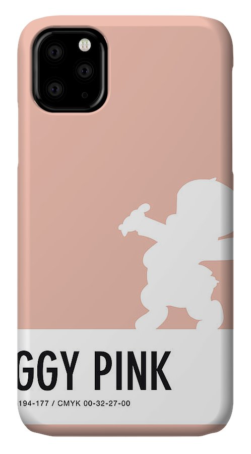 Looney IPhone Case featuring the digital art No17 My Minimal Color Code poster Porky Pig by Chungkong Art