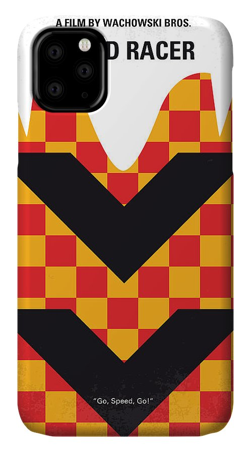 Speed IPhone Case featuring the digital art No482 My Speed Racer Minimal Movie Poster by Chungkong Art