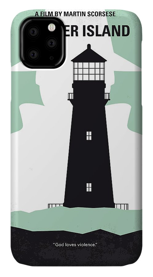 Shutter IPhone 11 Case featuring the digital art No513 My Shutter Island Minimal Movie Poster by Chungkong Art