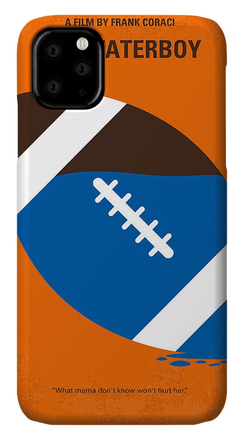 Waterboy IPhone Case featuring the digital art No580 My The Waterboy Minimal Movie Poster by Chungkong Art