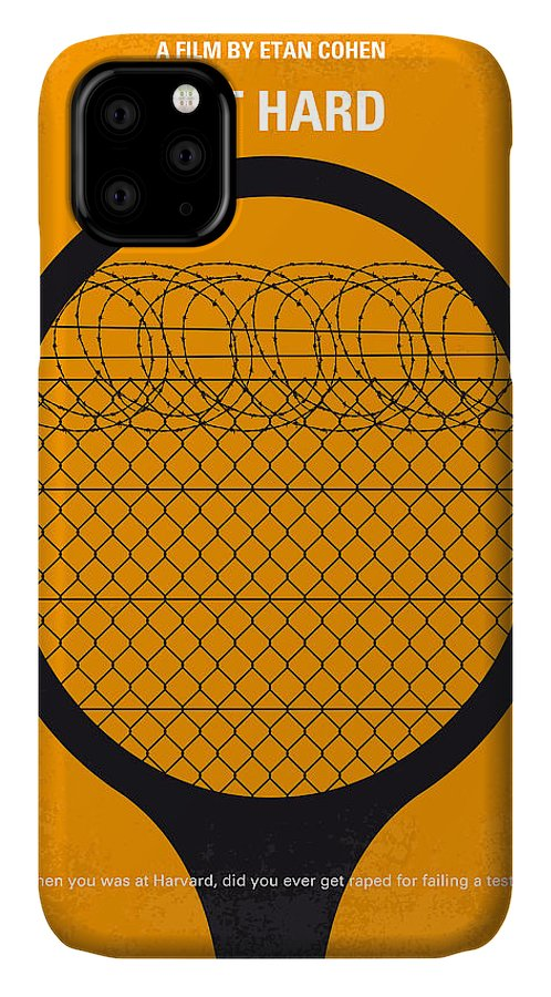 Get IPhone Case featuring the digital art No594 My Get Hard Minimal Movie Poster by Chungkong Art