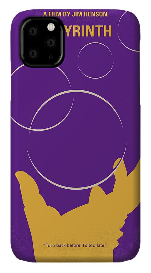 Labyrinth IPhone 11 Case featuring the digital art No928 My Labyrinth Minimal Movie Poster by Chungkong Art