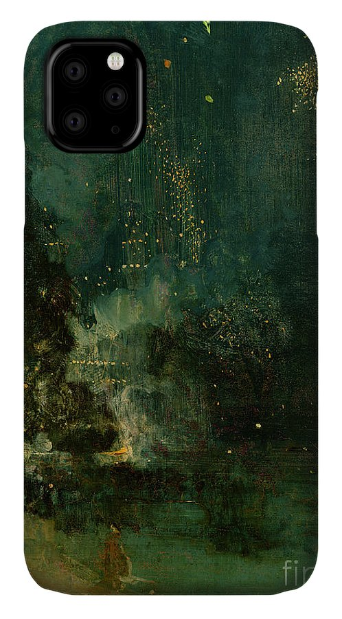 Nocturne IPhone Case featuring the painting Nocturne In Black And Gold - The Falling Rocket by James Abbott McNeill Whistler
