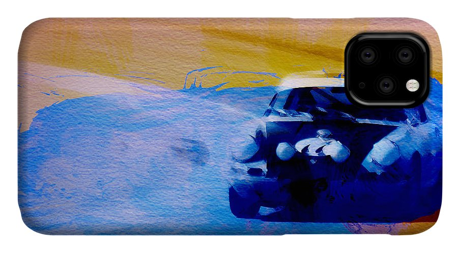 Naxart IPhone Case featuring the digital art Number 49 Porshce by Naxart Studio