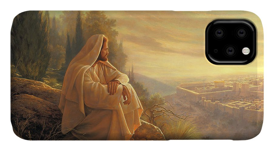 Esus IPhone Case featuring the painting O Jerusalem by Greg Olsen