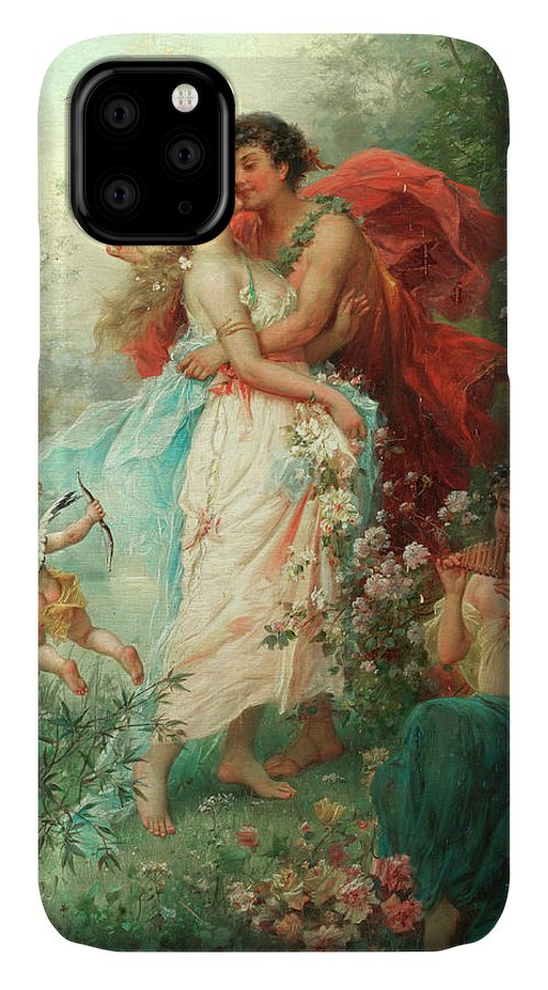 Oath Of Love IPhone Case featuring the painting Oath Of Love by Hans Zatzka