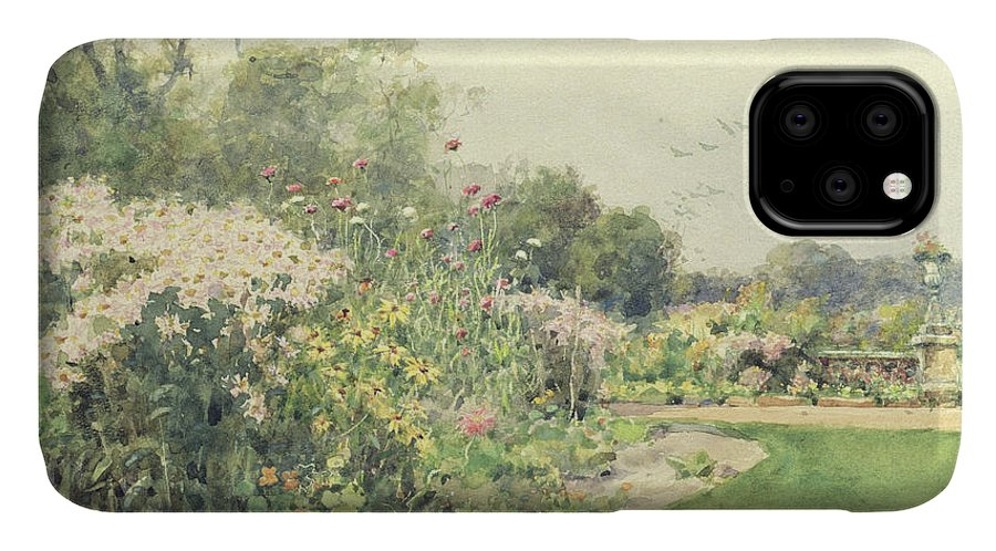 October IPhone Case featuring the painting October Flowers by Wilfred Williams Ball