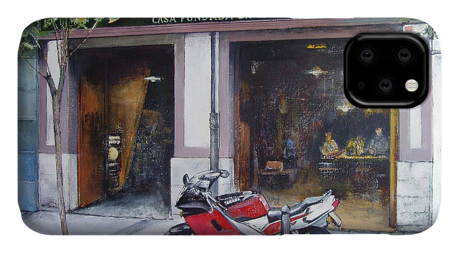 Bodegas Bringas IPhone Case featuring the painting Old bodegas Bringas by Tomas Castano