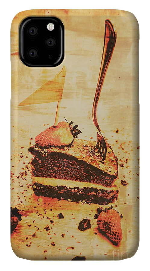 Vintage IPhone Case featuring the photograph Old Cake Break by Jorgo Photography - Wall Art Gallery