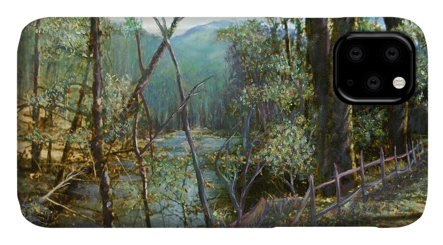River; Trees; Landscape IPhone Case featuring the painting Old Man River by Ben Kiger