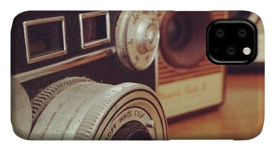 Photography IPhone 11 Case featuring the photograph Old School Cameras by Nancy Ingersoll