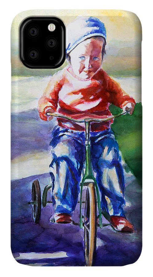 Girl IPhone Case featuring the painting Old Soul by Shannon Grissom