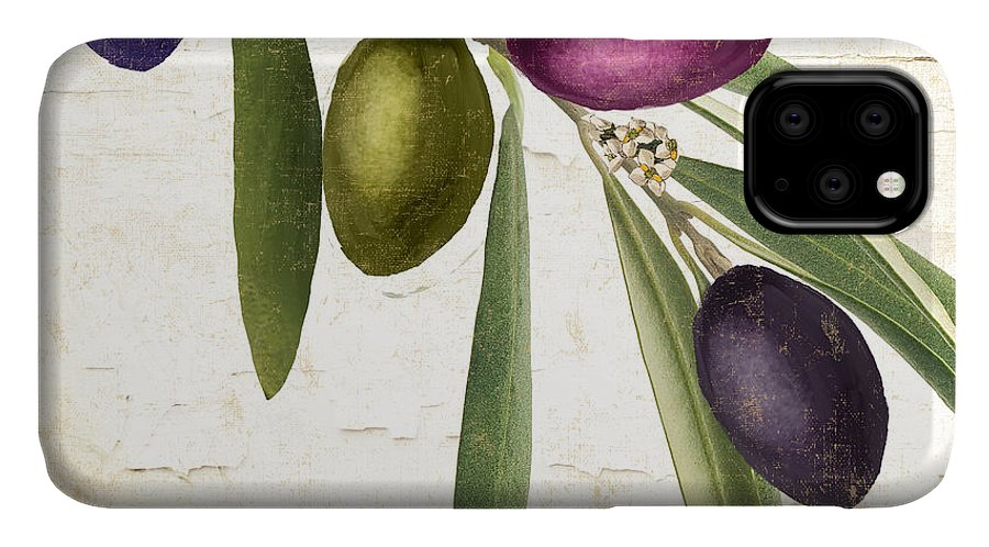 Olives IPhone Case featuring the painting Olive Branch by Mindy Sommers