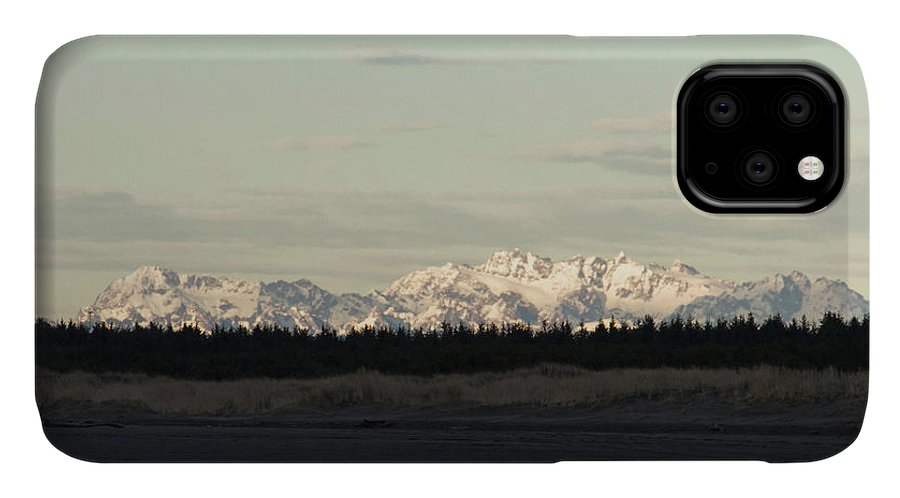 Olympic Mountains IPhone Case featuring the photograph Olympic Mountains by Cheryl Day
