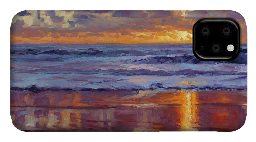 Ocean IPhone Case featuring the painting On The Horizon by Steve Henderson