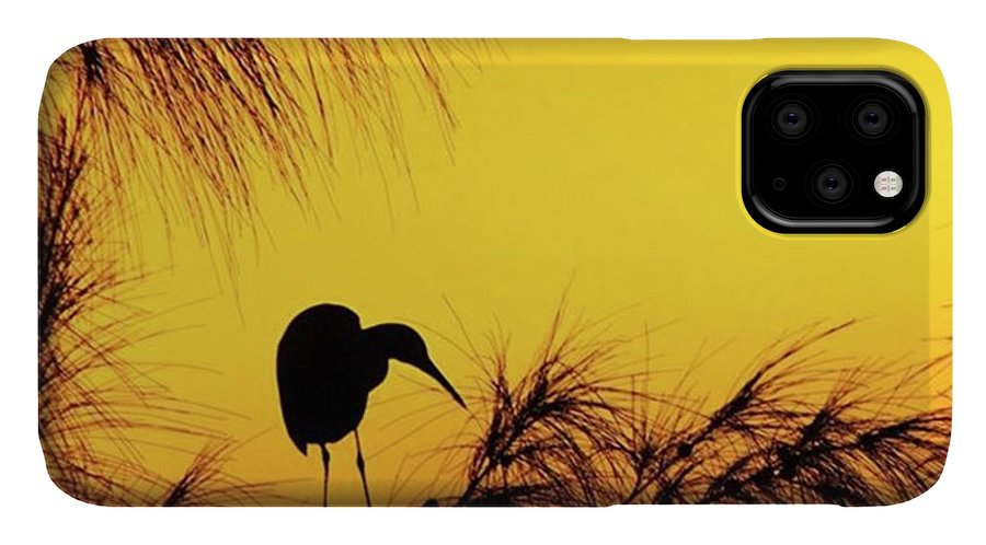 Egret IPhone Case featuring the photograph One Of A Series Taken At Mahoe Bay by John Edwards