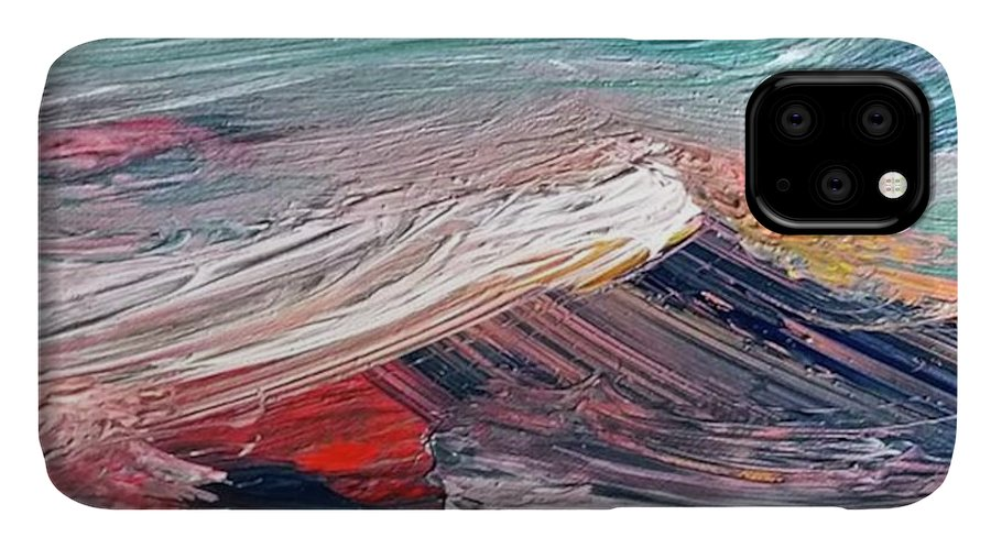 Mountain IPhone Case featuring the painting Wave Mountain by Christian Ruckerbauer