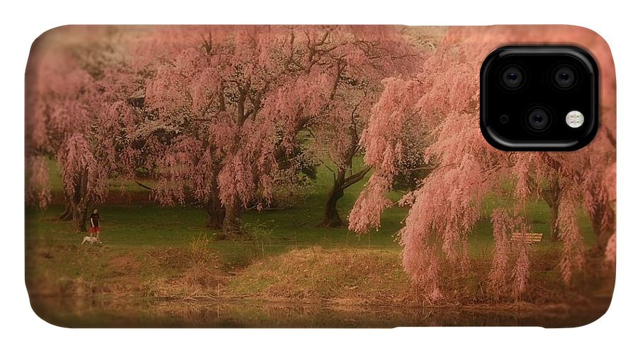 Cherry Blossom Trees IPhone Case featuring the photograph One Spring Day - Holmdel Park by Angie Tirado