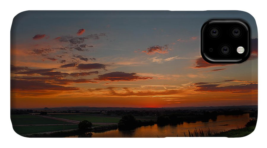 Sunset IPhone 11 Case featuring the photograph Oregon From Idaho by Michael Miller
