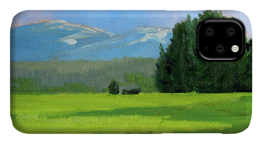 Oregon Landscape Painting IPhone Case featuring the painting Oregon Meadow by Nancy Merkle