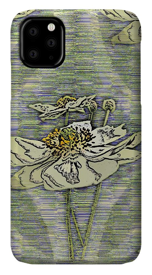 Abstract IPhone 11 Case featuring the digital art Out Of The Mist 2 by Tim Allen
