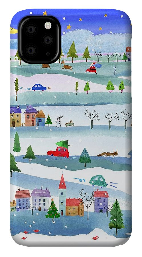 Animals IPhone 11 Case featuring the photograph Outdoor Christmas Events Linked by Gillham Studios