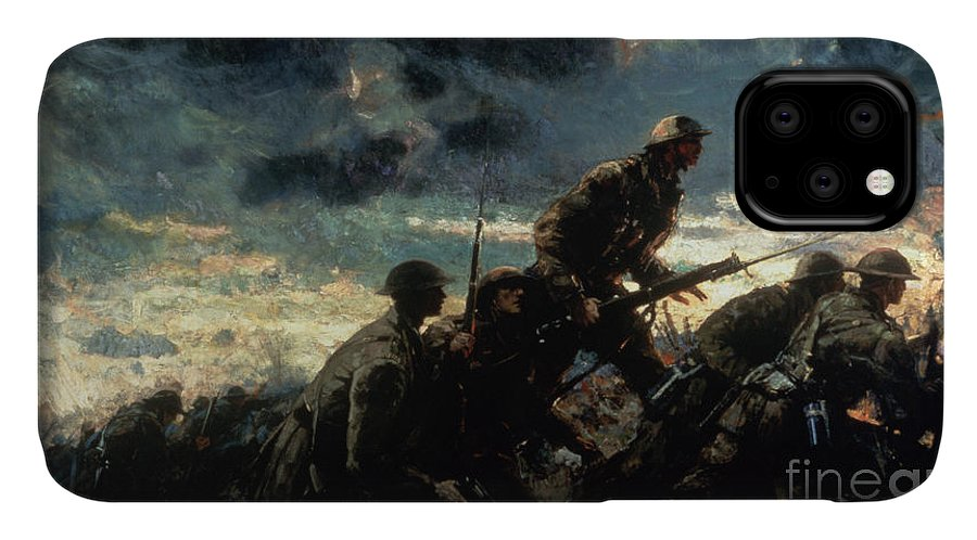 Over The Top IPhone Case featuring the painting Over The Top by Alfred Bastien