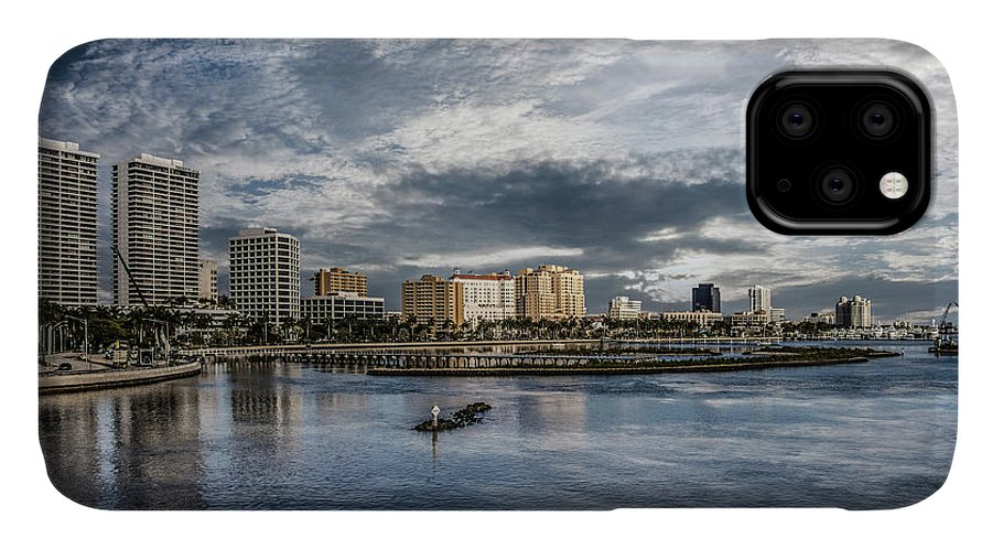 Boats IPhone 11 Case featuring the photograph Overlooking West Palm Beach by Debra and Dave Vanderlaan