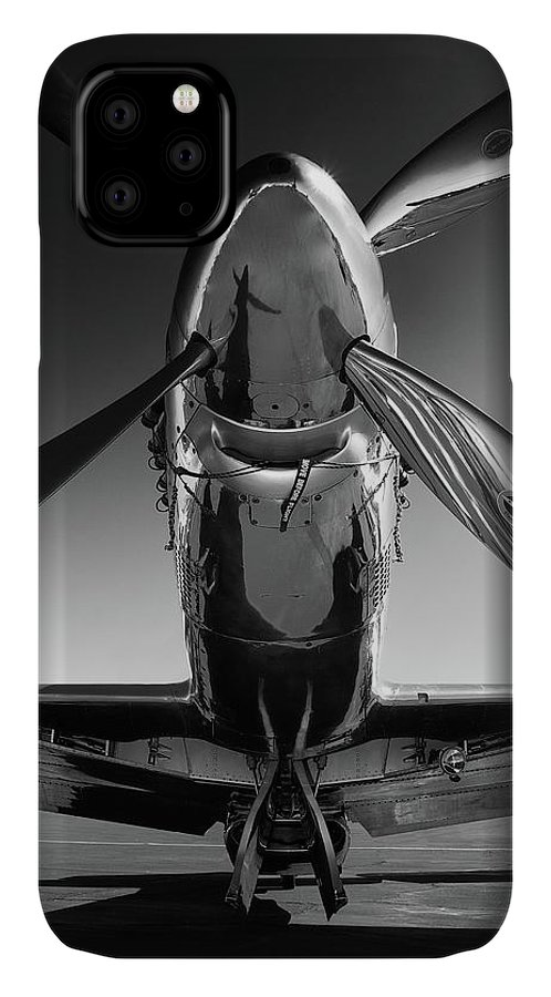 P51 IPhone 11 Case featuring the photograph P-51 Mustang by John Hamlon