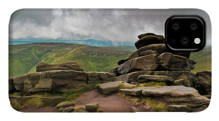 Landscape IPhone Case featuring the photograph Pagoda #1, Kinder Scout, Peak District, North West England by Anthony Lawlor