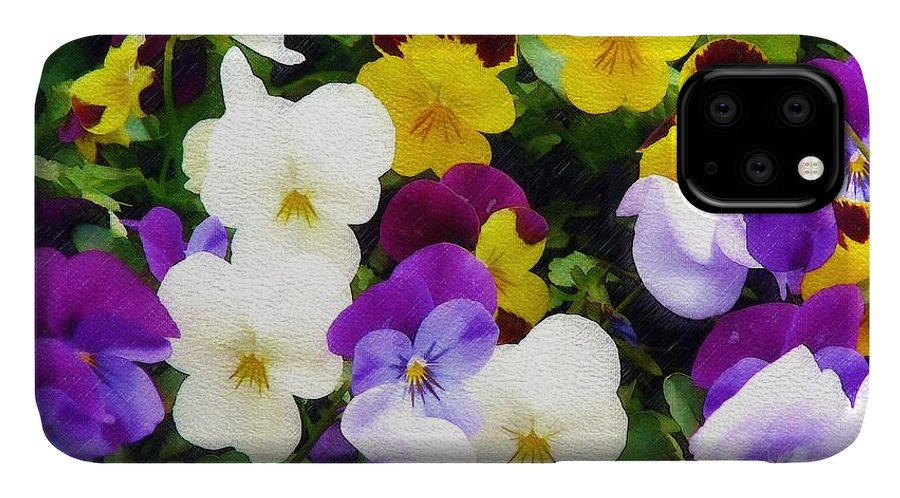 Pansies IPhone Case featuring the photograph Pansies by Sandy MacGowan