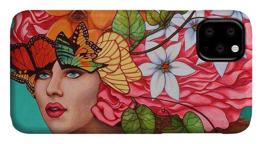 Woman IPhone Case featuring the painting Passionate Pursuit by Helena Rose