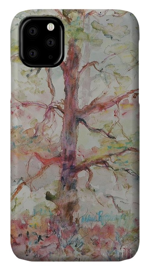 Forest IPhone Case featuring the painting Pastel Forest by Nadine Rippelmeyer