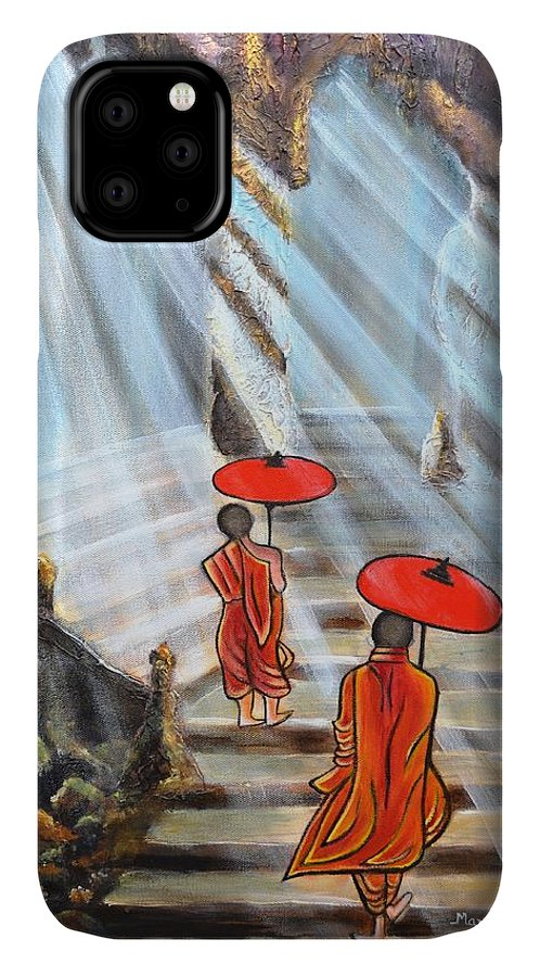 Buddha IPhone Case featuring the painting Path to enlightenment by Manjiri Kanvinde