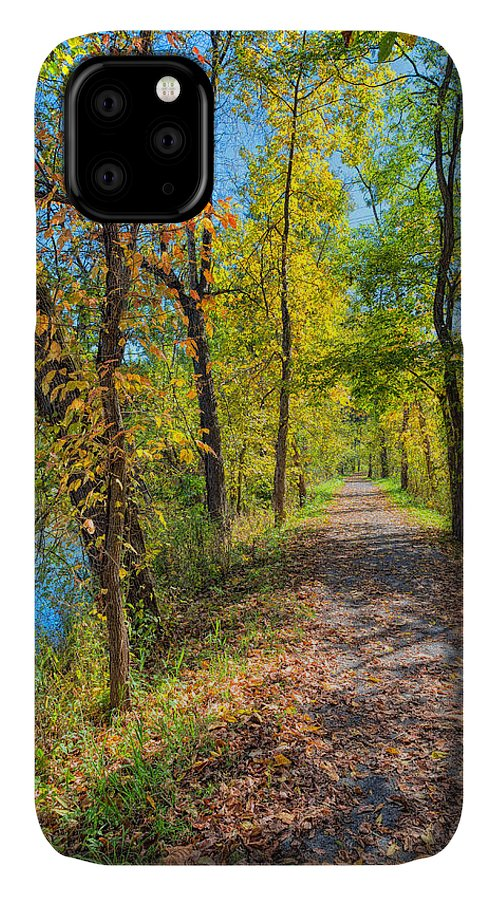 Sky IPhone 11 Case featuring the photograph Path Through Fall by John M Bailey