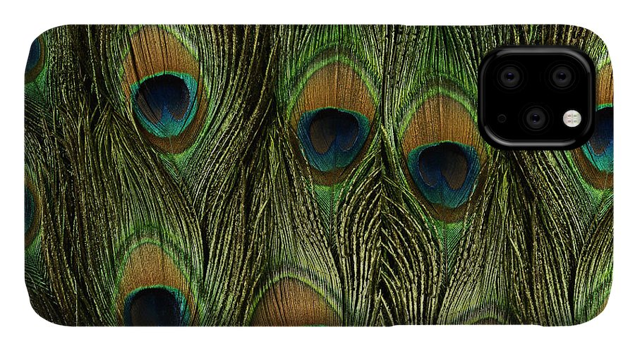 Peacock Feathers IPhone Case featuring the painting Peacock Feathers Photography by Georgeta Blanaru
