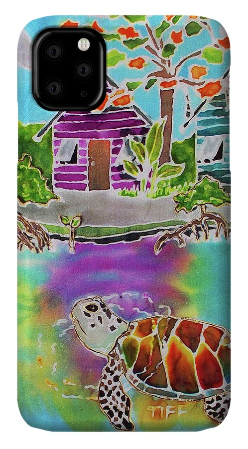 Bahamas Art IPhone Case featuring the painting Peepin Tom by Tiff