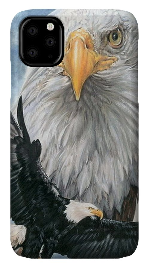 Bald Eagle IPhone Case featuring the mixed media Peerless by Barbara Keith