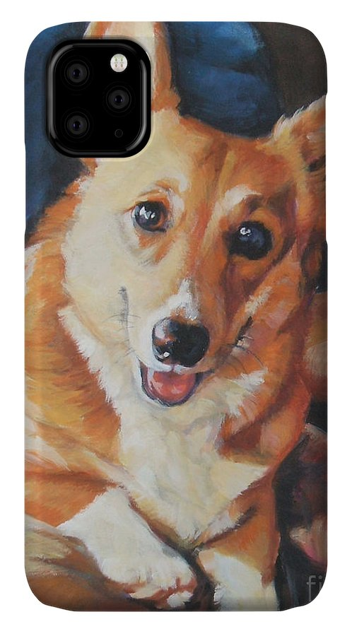 Pembroke Welsh Corgi IPhone 11 Case featuring the painting Pembroke Welsh Corgi by Lee Ann Shepard