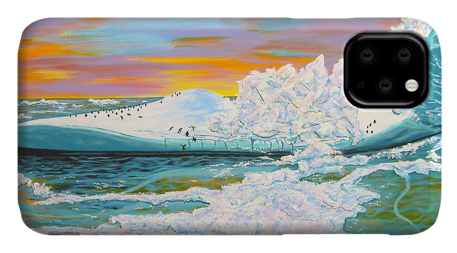 Iceberg IPhone Case featuring the painting The Last Iceberg by V Boge